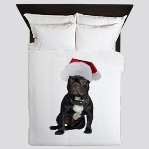 French Bulldog Santa Queen Duvet