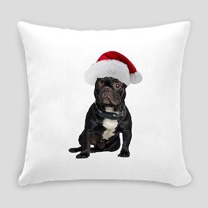 French Bulldog Santa Everyday Pillow