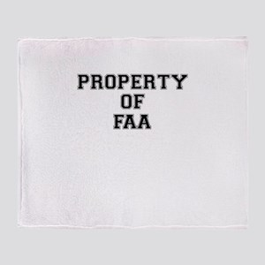 Property of FAA Throw Blanket
