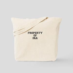 Property of FAA Tote Bag