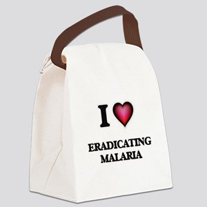 I love Eradicating Malaria Canvas Lunch Bag
