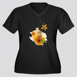 Autumn Wildflowers Plus Size T-Shirt