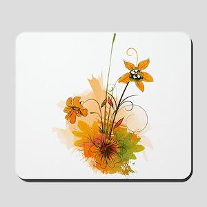 Autumn Wildflowers Mousepad
