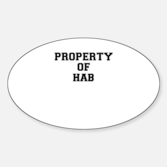 Property of HAB Decal