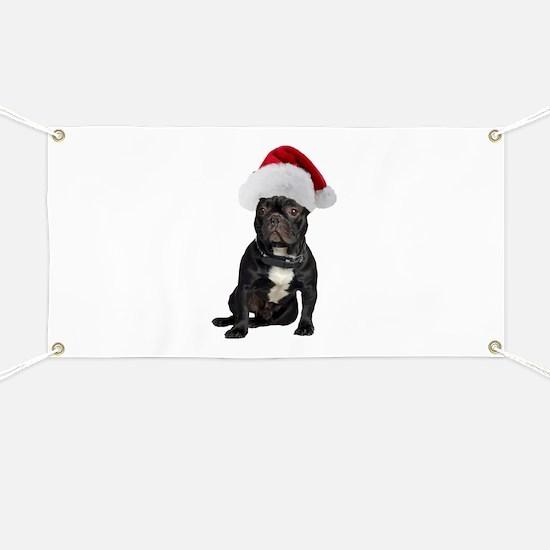 French Bulldog Santa Banner