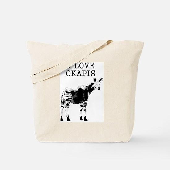 I Love Okapis Tote Bag