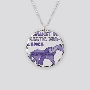 Unicorns Are Against Domesti Necklace Circle Charm