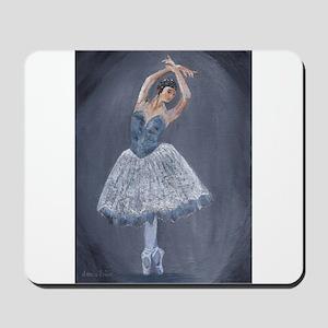 White Ballerina Mousepad