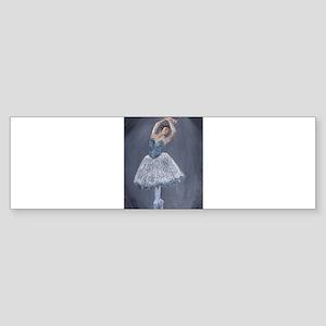 White Ballerina Bumper Sticker