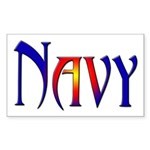 Navy Rectangle Sticker