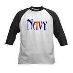 Navy Kids Baseball Jersey