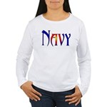 Navy Women's Long Sleeve T-Shirt