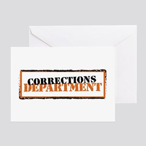 Corrections Department Greeting Card