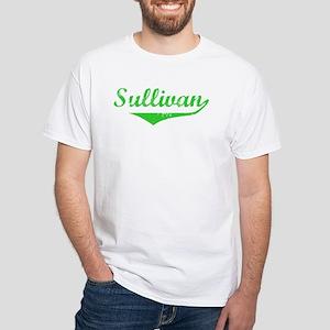 Sullivan Vintage (Green) White T-Shirt