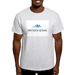 SWIM HARD Ash Grey T-Shirt