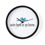 SWIM HARD Wall Clock