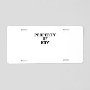 Property of KOY Aluminum License Plate