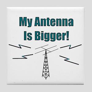 My Antenna Is Bigger! Tile Coaster