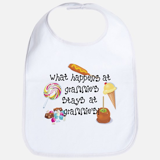 What Happens at Grammie's... Funny Baby Bib