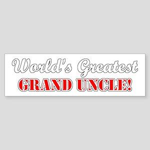 World's Greatest Grand Uncle Bumper Sticker