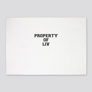 Property of LIV 5'x7'Area Rug