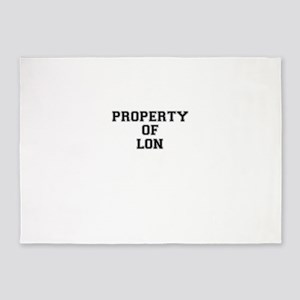 Property of LON 5'x7'Area Rug