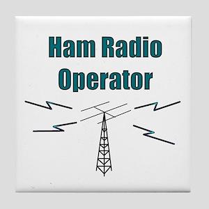 Ham Radio Operator Tile Coaster