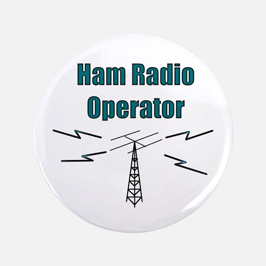 "Ham Radio Operator 3.5"" Button"