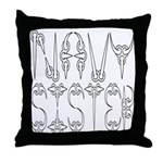 Navy Sister Throw Pillow