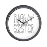 Navy Sister Wall Clock