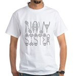 Navy Sister White T-Shirt