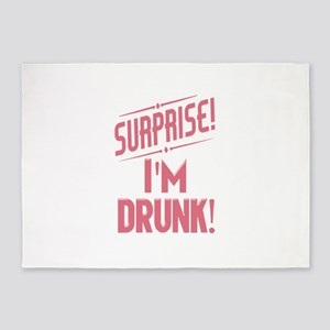 Surprise I'm Drunk Funny Partying 5'x7'Area Rug