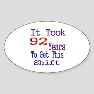 It Took 98 Years Birthday Designs Sticker (Oval)