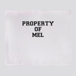 Property of MEL Throw Blanket