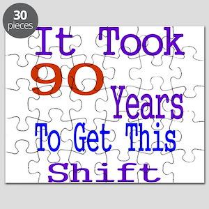 It Took 90 Years Birthday Designs Puzzle