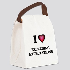 I love EXCEEDING EXPECTATIONS Canvas Lunch Bag