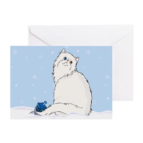 Hanukkah White Persian Greeting Cards (Pk of 10)