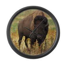 American Bison Large Wall Clock