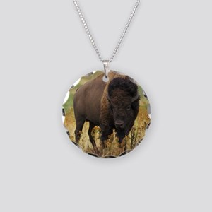 American Bison Necklace Circle Charm