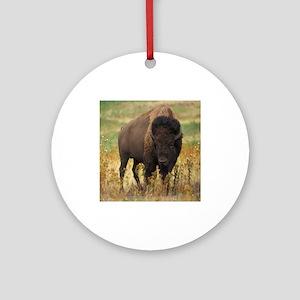 American Bison Round Ornament