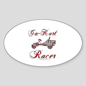 Go-Kart Racer Oval Sticker