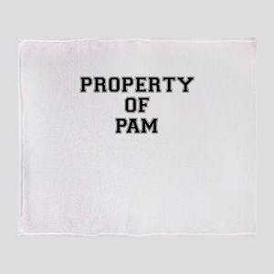 Property of PAM Throw Blanket