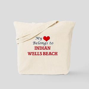 My Heart Belongs to Indian Wells Beach Ne Tote Bag