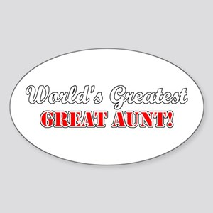 World's Greatest Great Aunt Oval Sticker