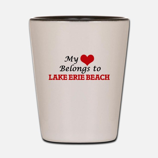 My Heart Belongs to Lake Erie Beach New Shot Glass