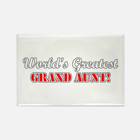 World's Greatest Grand Aunt Rectangle Magnet (100