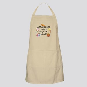 What Happens at Zeidy's... BBQ Apron