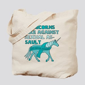 Unicorns Are Against Sexual Assault Tote Bag