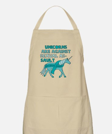 Unicorns Are Against Sexual Assault Apron
