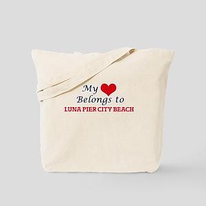 My Heart Belongs to Luna Pier City Beach Tote Bag